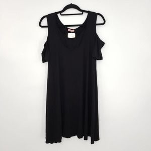 Cold Shoulder Layered Maternity/Nursing Tunic Top